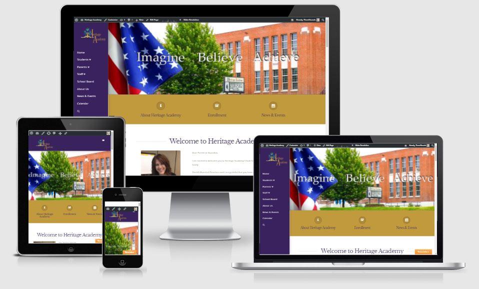 Heritage Academy Website Design