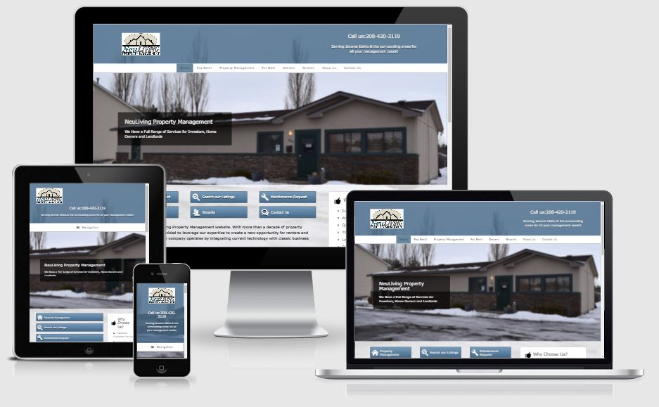 Neuliving Property Management Website Design
